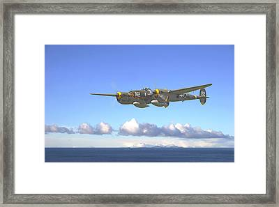 P38 - Long Way Home Framed Print by Pat Speirs