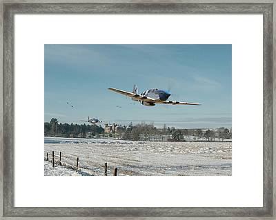 P51 Mustang - Bodney Blue Noses Framed Print by Pat Speirs