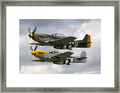 P51 Mustangs Framed Print