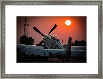 Framed Print featuring the photograph P51 Sunset by Paul Job
