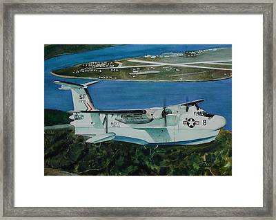 P5m Over North Island Framed Print by Dwight Williams