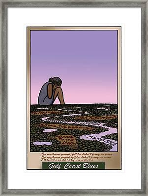 Gulf Blues Framed Print