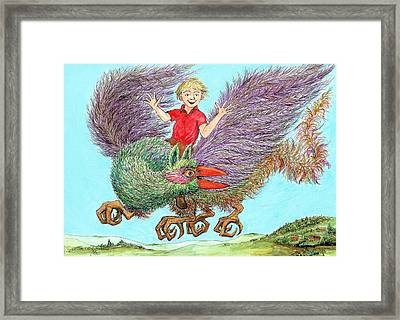 P9 Look  No Hands Framed Print