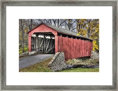 Pa Country Roads - Poole Forge Covered Bridge Over Conestoga Creek No. 3b-alt - Lancaster Framed Print
