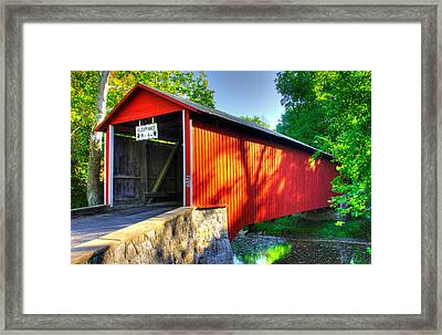 Pa Country Roads - Witherspoon Covered Bridge Over Licking Creek No. 4b - Franklin County Framed Print