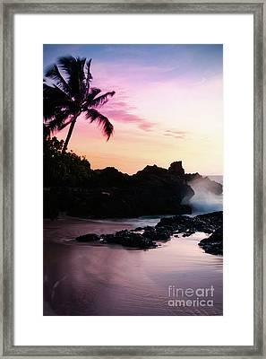 Paako Beach Sunset Jewels Framed Print by Sharon Mau