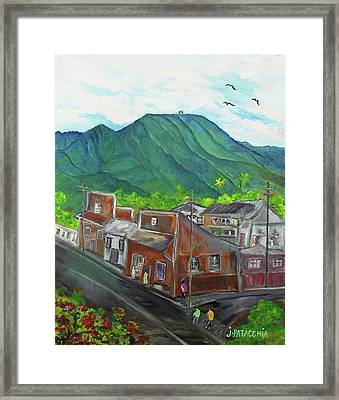 Paalaa Kai Road Nostalgia, Haleiwa Hawaii Framed Print by Julie Patacchia