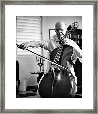 Pablo Casals Celebrates His 85th Framed Print by Everett