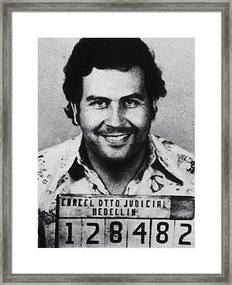 Pablo Escobar Mug Shot 1991 Vertical Framed Print