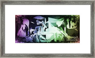 Pablo Picasso Guernica New Age Digital Art Framed Print by Galambosi Tamas