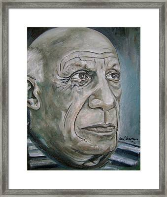 Pablo Picasso Framed Print by Martel Chapman