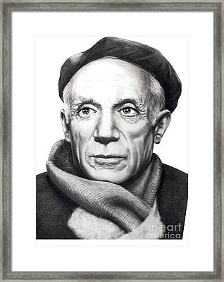 Pablo Picasso Framed Print by Murphy Elliott