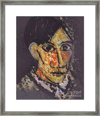 Pablo Picasso Portrait Framed Print