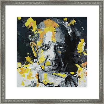 Pablo Picasso Portrait Framed Print by Richard Day