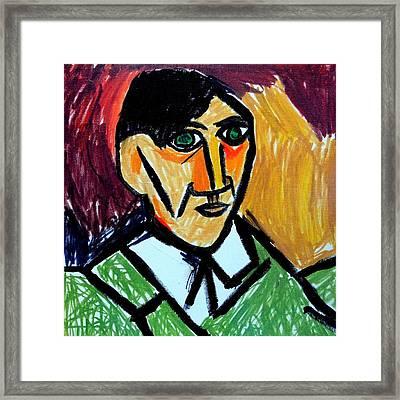 Pablo Picasso 1907 Self-portrait Remake Framed Print