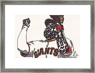 Pablo Sandoval Giants Framed Print by Jeremiah Colley