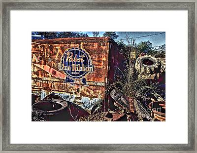 Pabst Blue Ribbon Delievery Truck Framed Print by Corky Willis Atlanta Photography