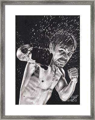 Pac-man Framed Print by Joshua Navarra