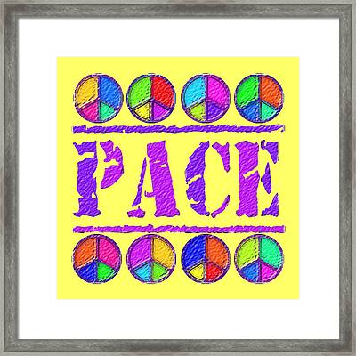 Pace Framed Print