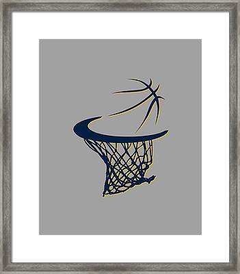 Pacers Basketball Hoop Framed Print