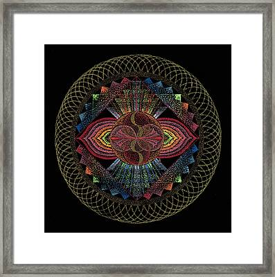 Framed Print featuring the painting Pachamama by Keiko Katsuta