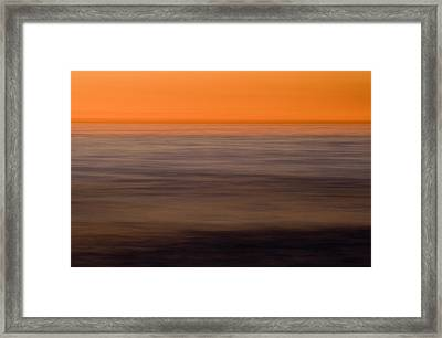 Pacific Abstracted Framed Print by Brad Rickerby