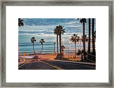 Pacific And 1st Street Framed Print by Ann Patterson