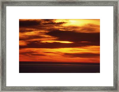 Pacific Backdrop  Framed Print by Soli Deo Gloria Wilderness And Wildlife Photography