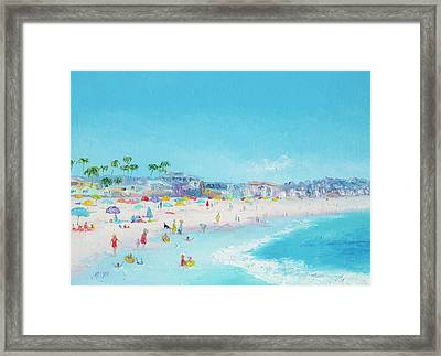 Pacific Beach In San Diego Framed Print by Jan Matson
