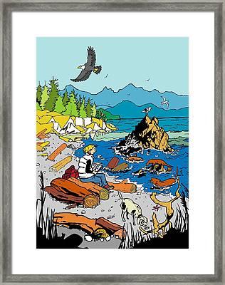 Pacific Beach Life - 1 Framed Print by Balbina  Studio