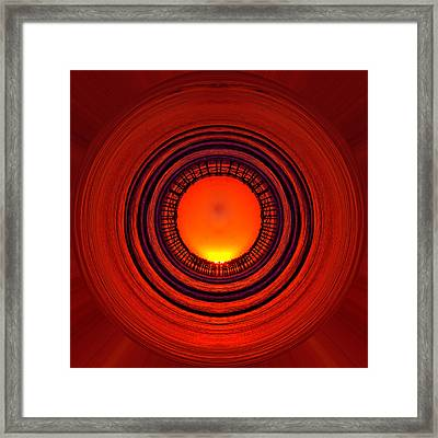 Pacific Beach Pier Sunset - Abstract Framed Print
