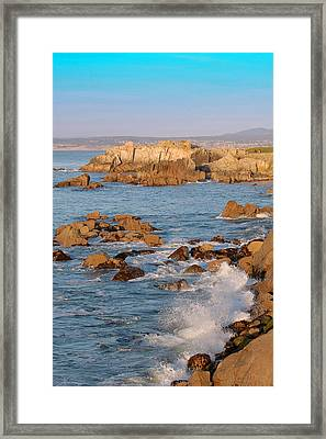 Pacific Beachline Framed Print by Pearson Photography