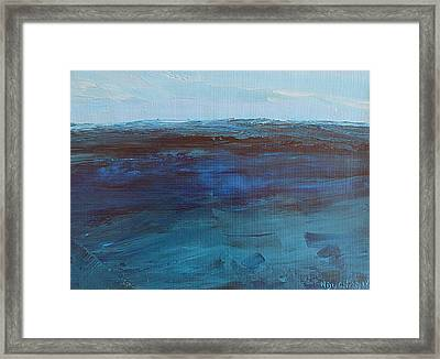 Pacific Blue Framed Print