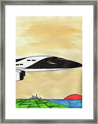 Pacific Bound Framed Print by Ronald Woods