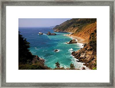 Pacific Coast Blues Framed Print by Donna Kennedy