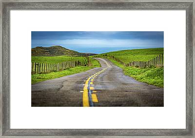Pacific Coast Road To Tomales Bay Framed Print