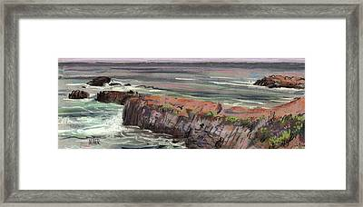 Pacific Coastal Panorama Framed Print by Donald Maier