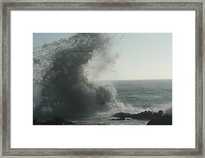 Pacific Crash Framed Print
