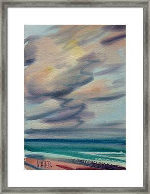 Pacific Evening Framed Print by Donald Maier