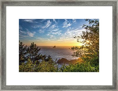 Pacific Gold Framed Print by Leland D Howard