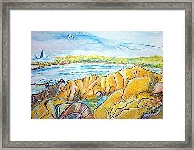 Pacific Grove Rocky Beach Framed Print