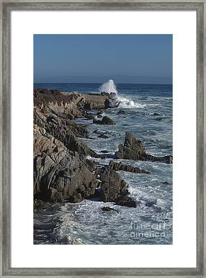 Framed Print featuring the photograph Pacific Grove Seascape by Stan and Anne Foster