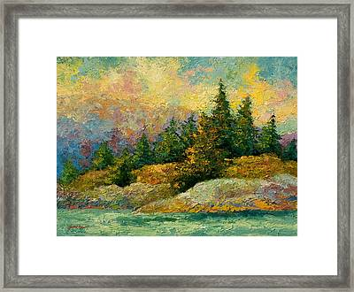 Pacific Island Framed Print by Marion Rose