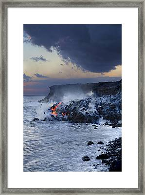 Pacific Lava Flow Framed Print by Dave Fleetham - Printscapes