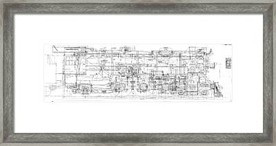 Pacific Locomotive Diagram Framed Print