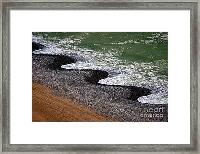 Pacific Meets Lima Framed Print by Doug Sturgess