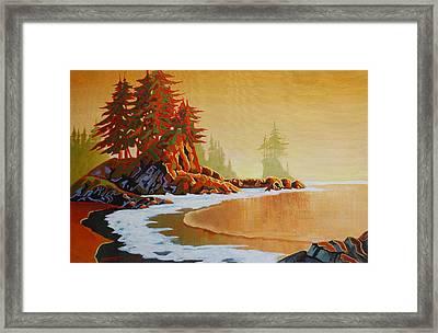 Pacific Mist Framed Print by Santo De Vita