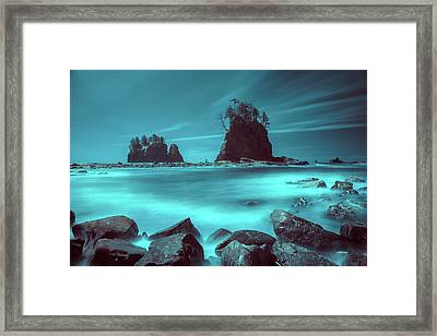 Pacific Moody Sea Stacks Framed Print