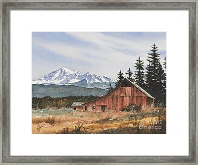 Pacific Northwest Landscape Framed Print