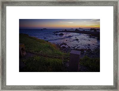 Pacific Ocean Cove Northern California Sunset Framed Print by Scott McGuire